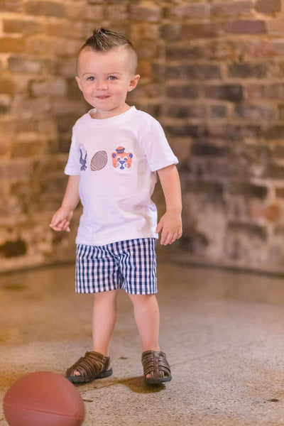 Toddler boy Auburn outfit