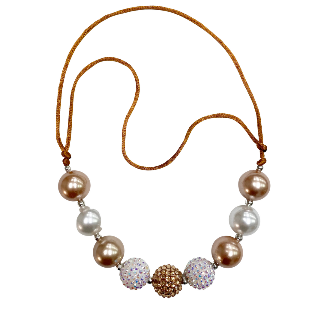 Adjustable Bead Necklace- Bubbly
