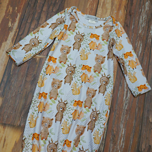 Woodland Adventures Baby Gown
