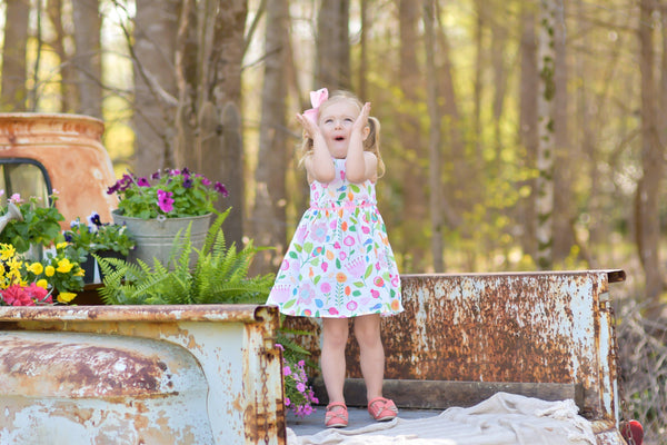 Fairy Garden Dress - Orange Poppy Boutique