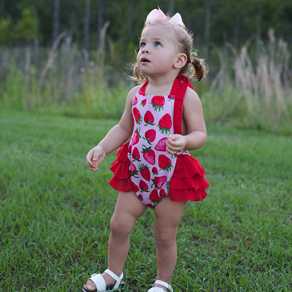 Berry Sweet Bubble Romper - Orange Poppy Boutique