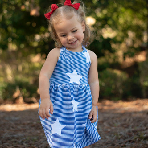 Blue Sparks Fly Dress - Orange Poppy Boutique