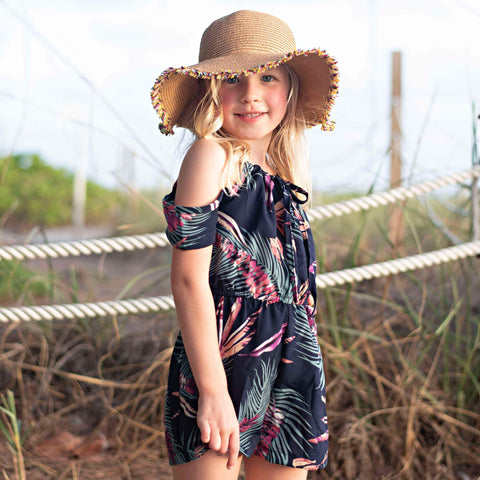 Raindrop Jungle Romper - Orange Poppy Boutique
