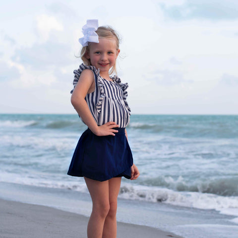 Day Dream Skort Set- Navy - Orange Poppy Boutique