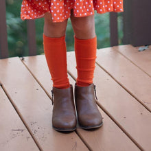 Load image into Gallery viewer, Cable Knee High Socks - Tangerine - Orange Poppy Boutique