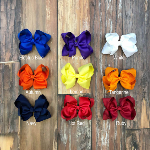 Gameday Hairbows - Orange Poppy Boutique