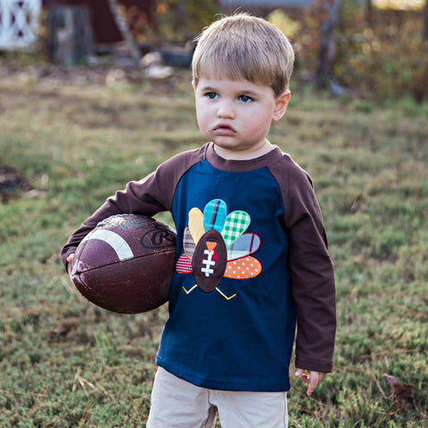 Gameday Gobble Raglan - Orange Poppy Boutique