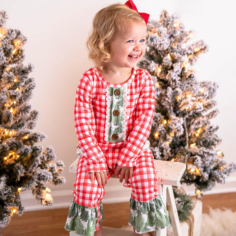 The Christmas Wish Ruffle Romper
