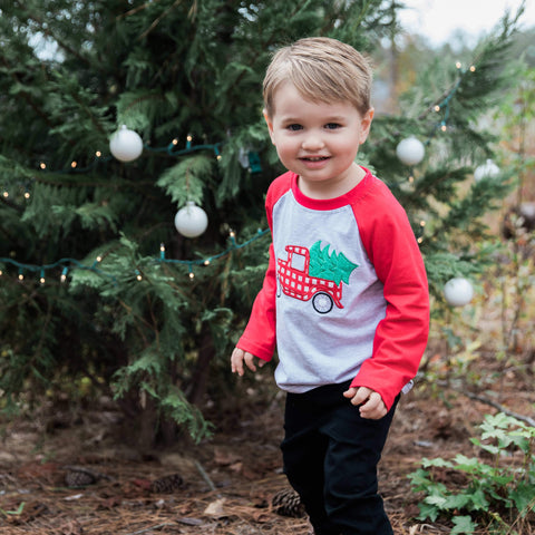 Deck the Halls Raglan - Orange Poppy Boutique