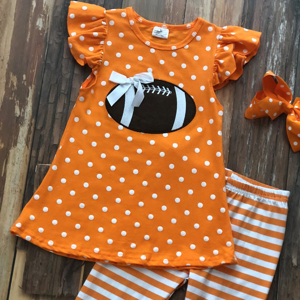 Tailgate in Tennessee Tunic Set - Orange Poppy Boutique