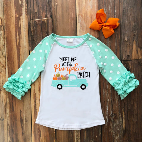 Meet Me At The Pumpkin Patch Raglan - Orange Poppy Boutique