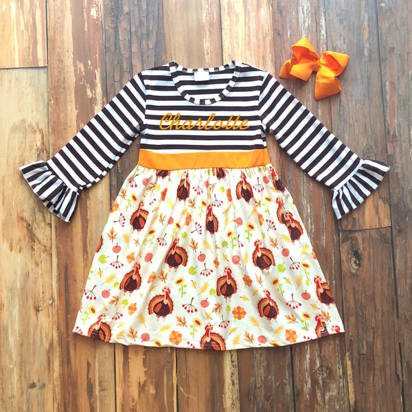 Harvest Wishes Dress - Orange Poppy Boutique