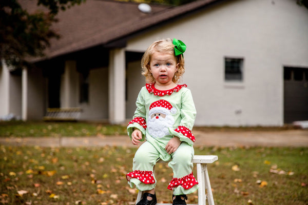 Merry Little Christmas Ruffle Romper
