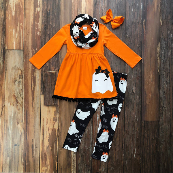 Sweet Ghost Tunic Set - Orange Poppy Boutique
