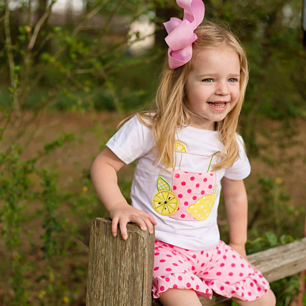 Lemonade Stand Short Set - Orange Poppy Boutique