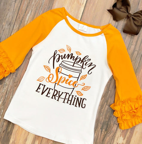 Pumpkin Spice Everything Shirt - Orange Poppy Boutique