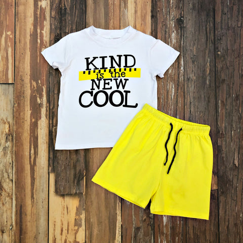 Kindness Rules Short Set - Orange Poppy Boutique