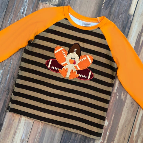 Touchdown Turkey Raglan Tee - Orange Poppy Boutique