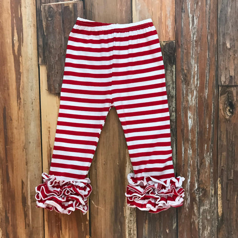 Red & White Icing Pants - Orange Poppy Boutique