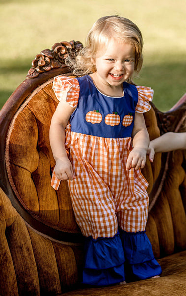 Pumpkin Patch Ruffle Romper