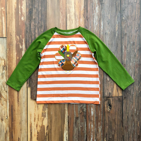 Cozy Plaid Turkey Raglan - Orange Poppy Boutique