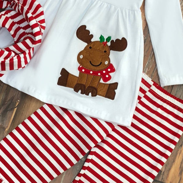 Merry Moosemas 3-Piece Pant Set - Orange Poppy Boutique