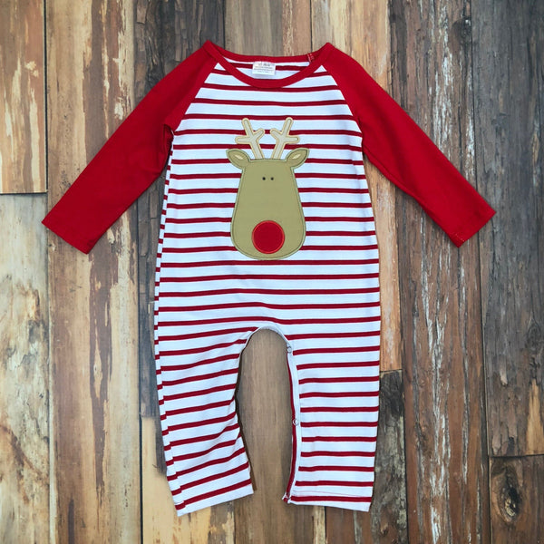 Reindeer Games Romper - Orange Poppy Boutique