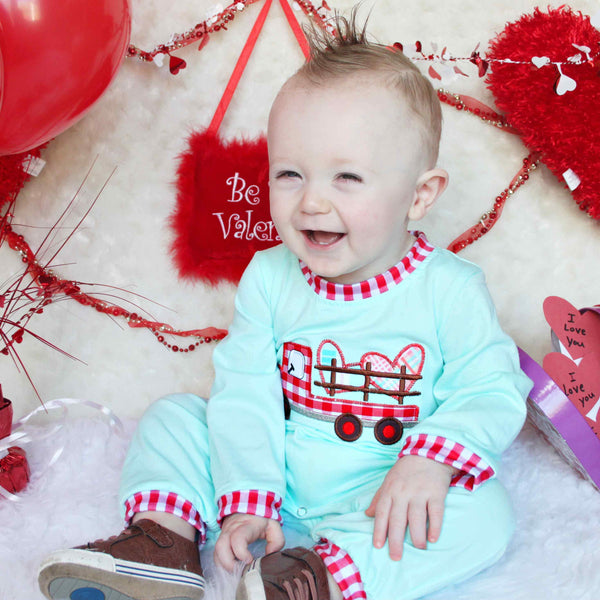 Valentine's Day Romper - Orange Poppy Boutique