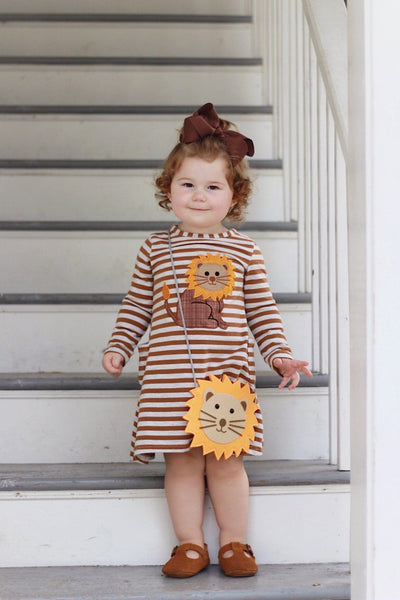 Lion Cub Dress & Purse Set