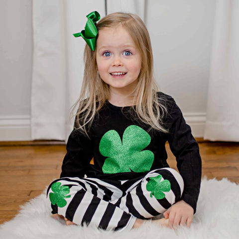 Lucky Shamrock Pant Set - Orange Poppy Boutique