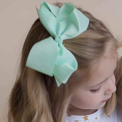 Limited-Edition Mint Hairbow - Orange Poppy Boutique