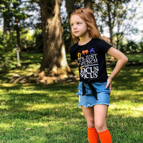 Hocus Pocus Girl's Tee - Orange Poppy Boutique
