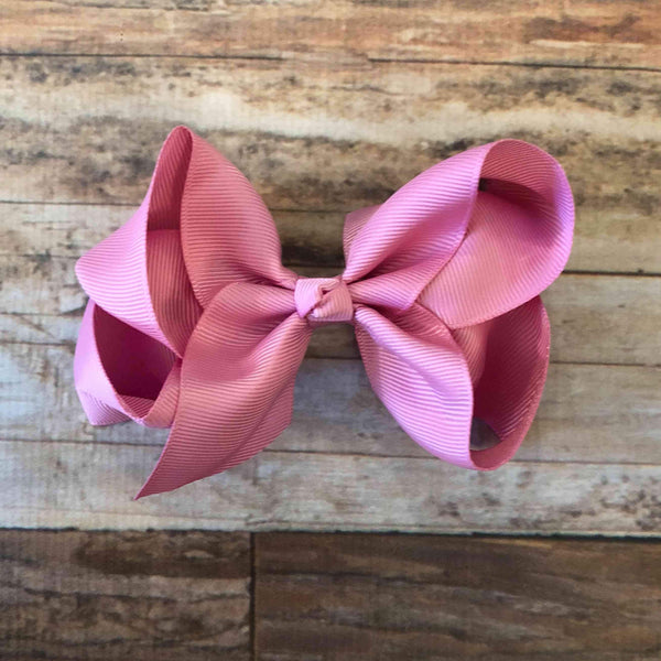 Limited-Edition Velveteen Violet Bow - Orange Poppy Boutique