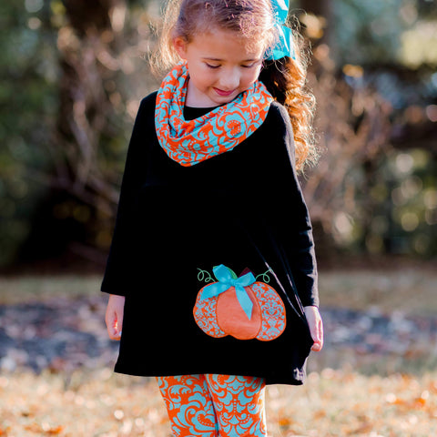 Chic Pumpkin 3-Piece Set - Orange Poppy Boutique
