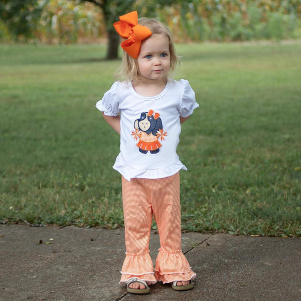 Hound Dog Cheerleader Pant Set - Orange Poppy Boutique