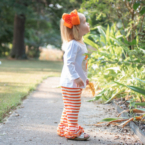 Orange & White Icing Pants - Orange Poppy Boutique
