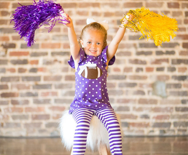 toddler girl LSU football outfit