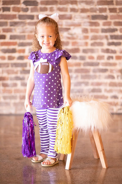 girls LSU football outfit
