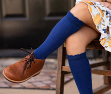 Load image into Gallery viewer, Cable Knee High Socks - Navy - Orange Poppy Boutique