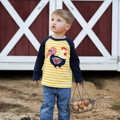 Country Hen Raglan - Orange Poppy Boutique