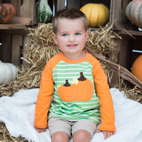 Pumpkin Pickin' Raglan - Orange Poppy Boutique