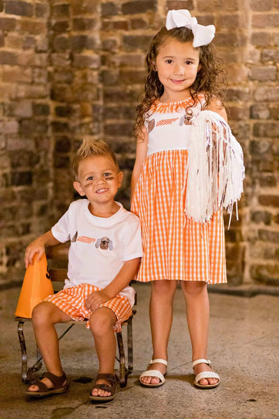 Hound Dog Short Set - Orange Poppy Boutique