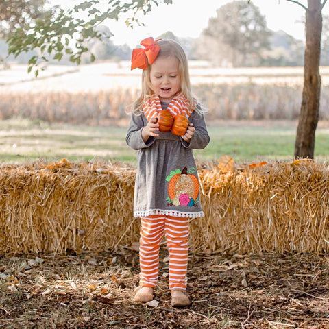 Sequin Pumpkin Pant Set