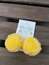 Load image into Gallery viewer, Handmade Pompom Earrings - Sunshine