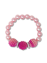 Load image into Gallery viewer, Pearl Bubble Bracelet - Pink