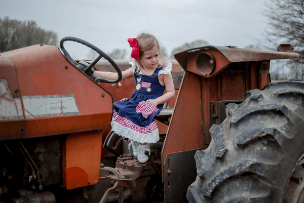 Down on the Farm Dress - Orange Poppy Boutique