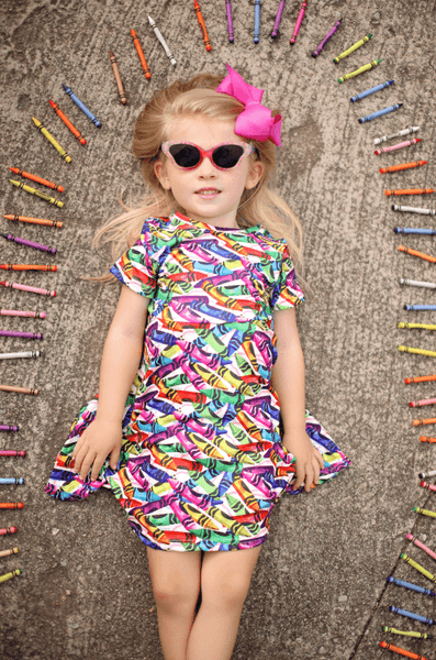 Color Me Happy Twirl Dress