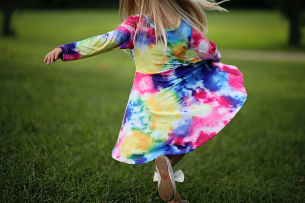 Tie Dye Twirl Dress - Rainbow