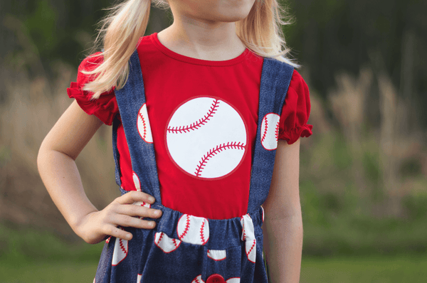 Take Me Out to the Ball Game Jumper - Orange Poppy Boutique