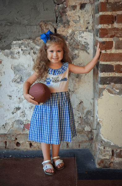 Gingham Wildcat Dress - Orange Poppy Boutique